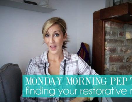 Finding your restorative niche | Monday Morning Pep Talk