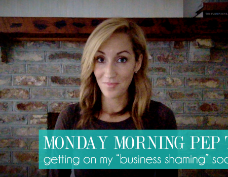 """Join me on my """"Business Shaming"""" soapbox 